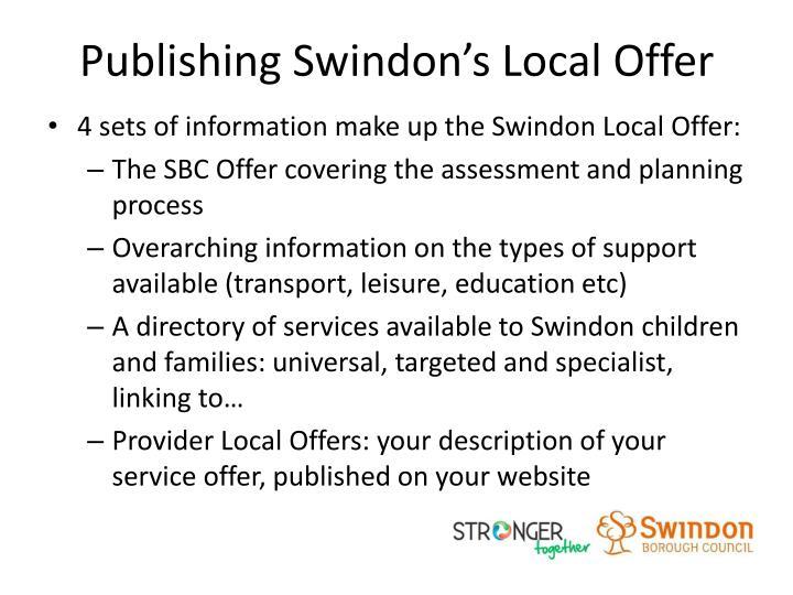 Publishing Swindon's Local Offer