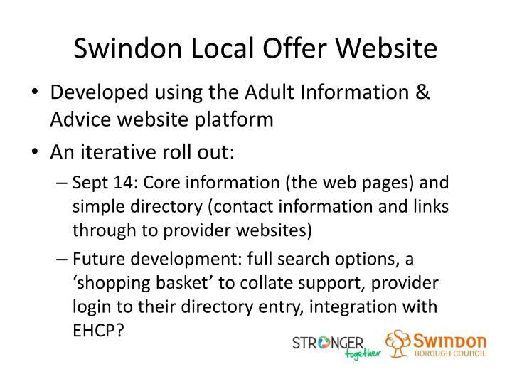 Swindon Local Offer Website