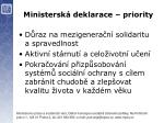 ministersk deklarace priority1