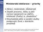 ministersk deklarace priority2