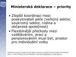 ministersk deklarace priority3