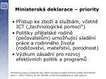 ministersk deklarace priority4