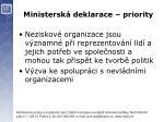 ministersk deklarace priority5