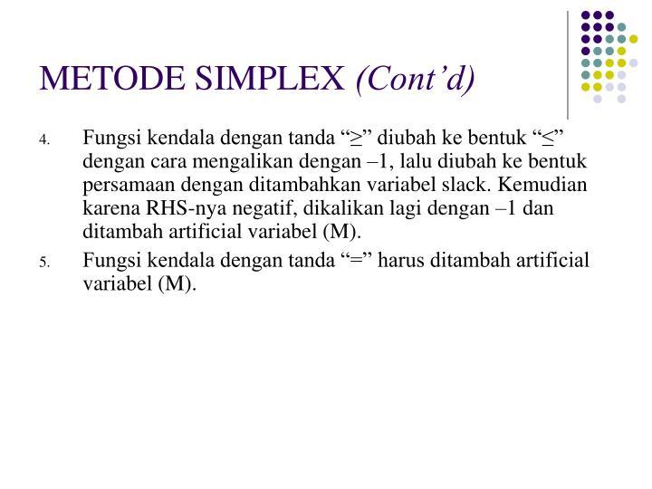 Metode simplex cont d