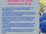 sep forecast steps from poster ps 18