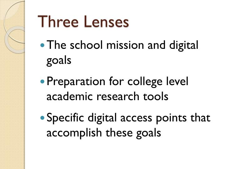 Three lenses
