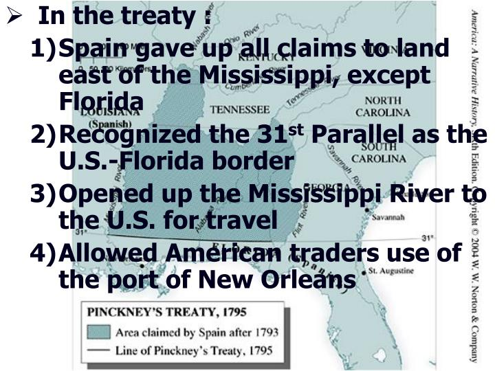 In the treaty :