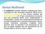 ventas multinivel