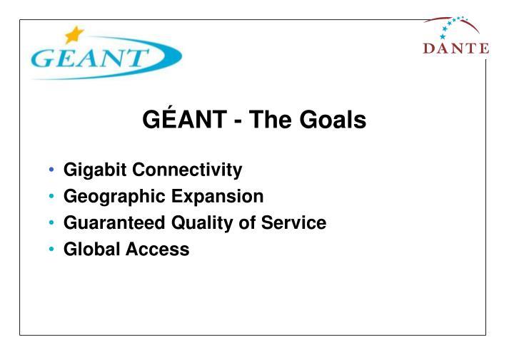GÉANT - The Goals