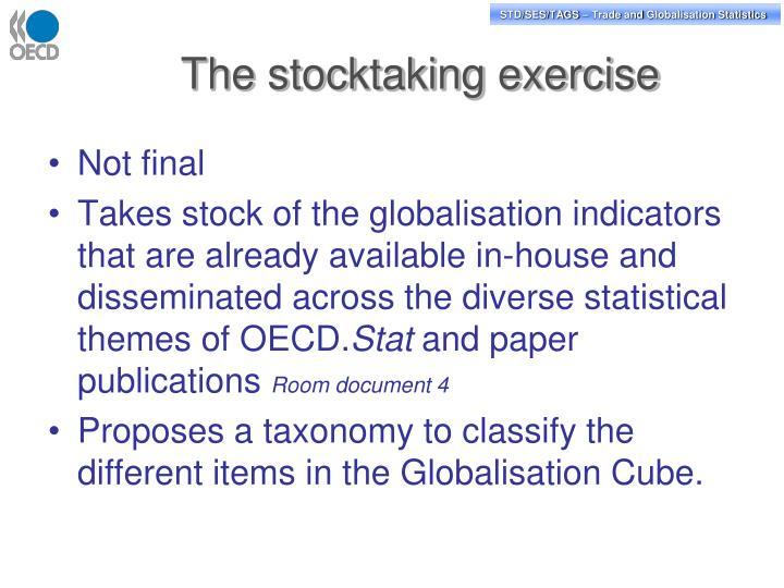 The stocktaking exercise