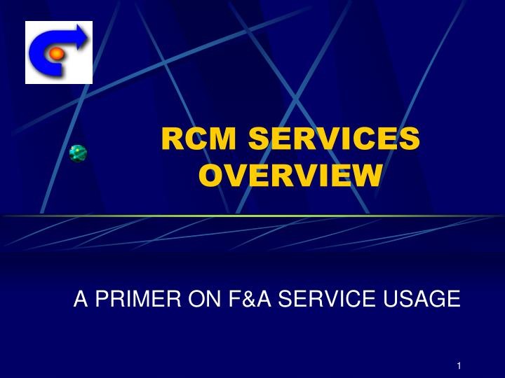 rcm services overview n.