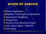 scope of service