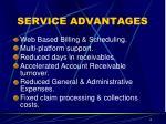 service advantages