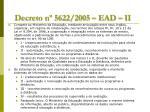 decreto n 5622 2005 ead ii