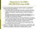 dispositivos da ldb e decretos sobre ead