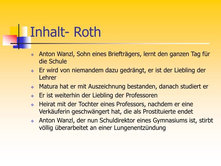 Inhalt- Roth