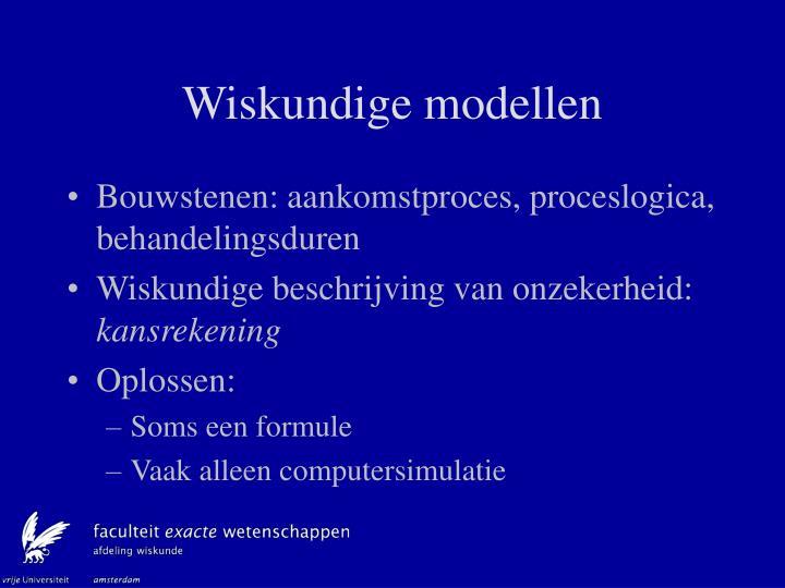 Wiskundige modellen