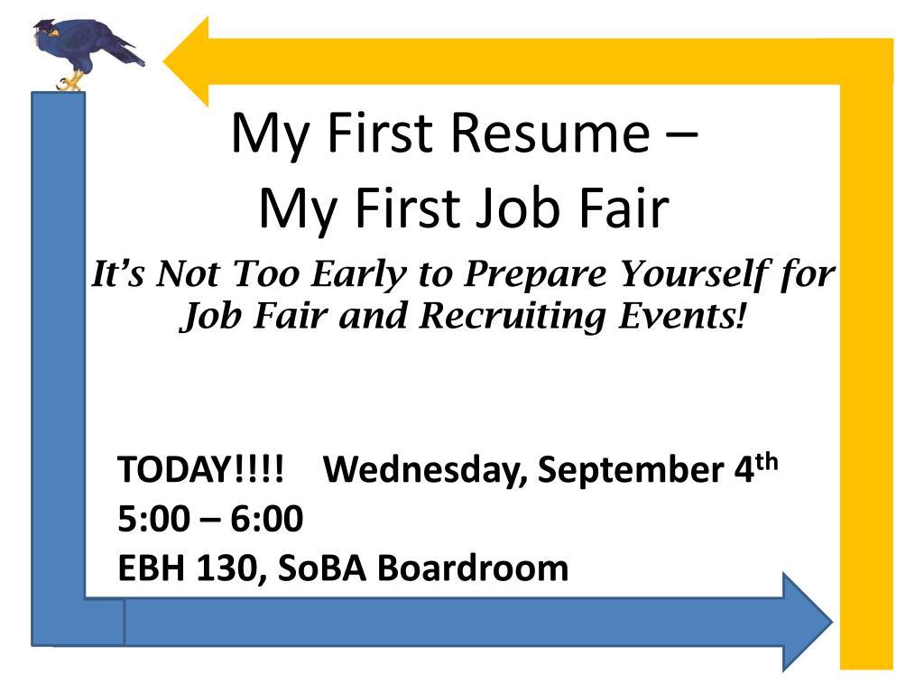 PPT   My First Resume – My First Job Fair PowerPoint Presentation ...