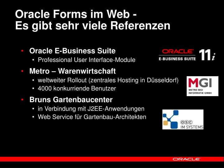 Oracle Forms im Web -