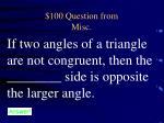 100 question from misc