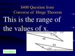 400 question from converse of hinge theorem