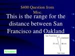 400 question from misc