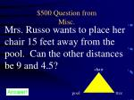 500 question from misc