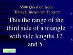 500 question from triangle inequality theorem