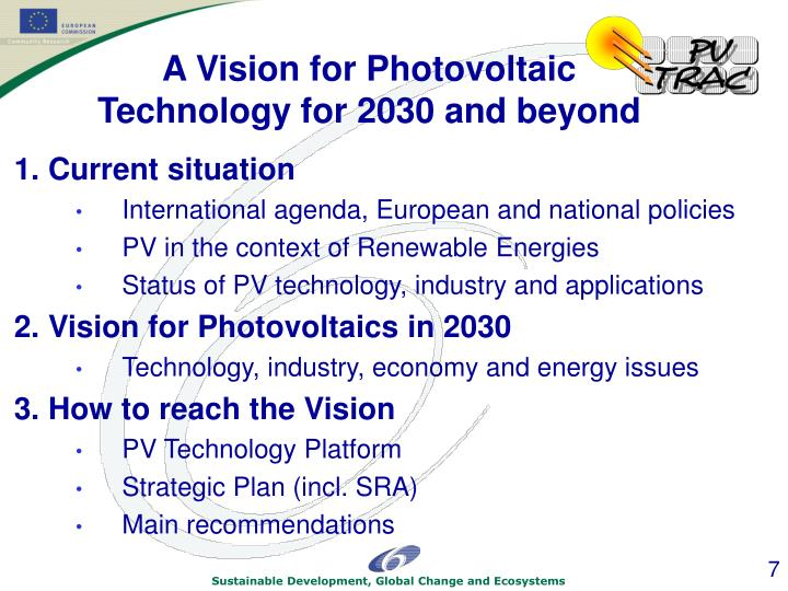 action plan for pv technologies By implementing the proposed action plan and to explore emerging technologies resources—solar pv, energy storage batteries.