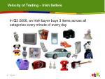 velocity of trading irish sellers
