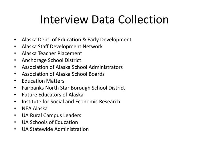 Interview Data Collection