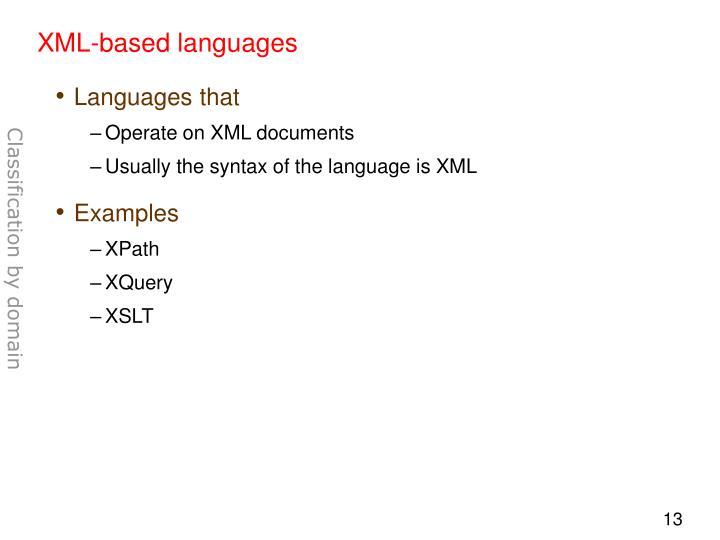 XML-based languages