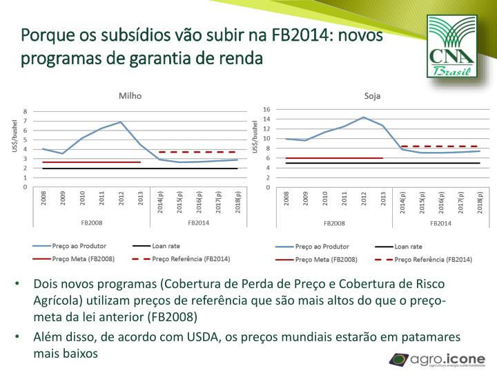 Porque os subsídios vão subir na FB2014: novos programas de garantia de renda
