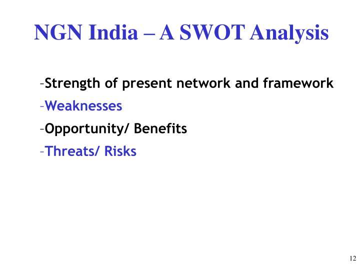 NGN India – A SWOT Analysis
