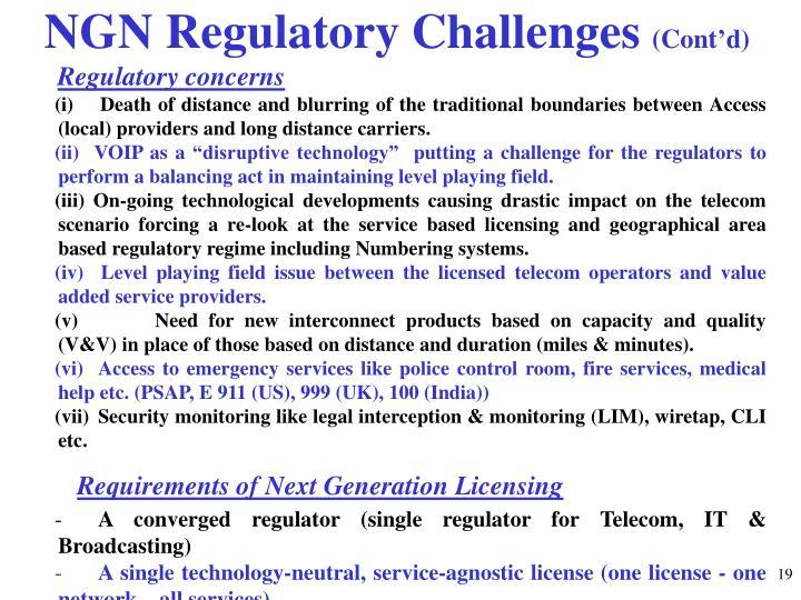 NGN Regulatory Challenges