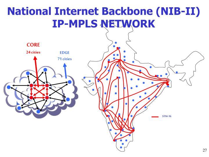 National Internet Backbone (NIB-II) IP-MPLS NETWORK