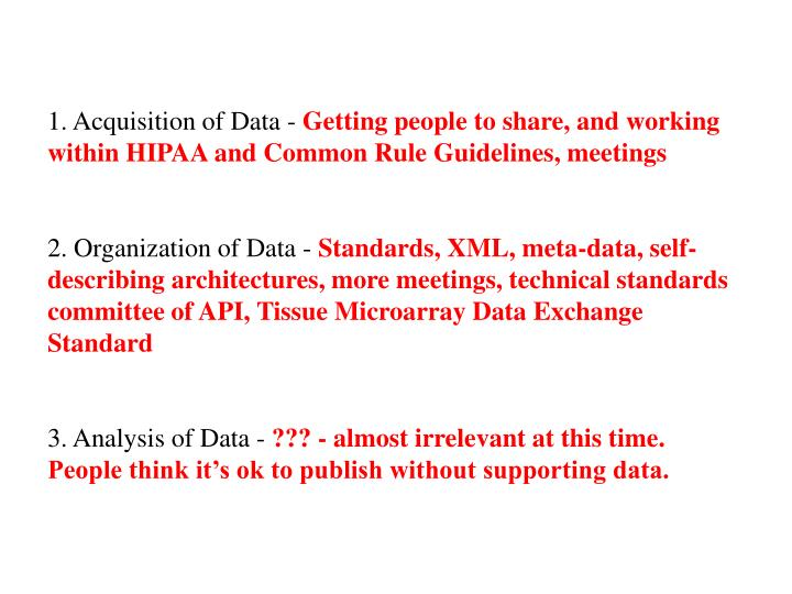 1. Acquisition of Data -