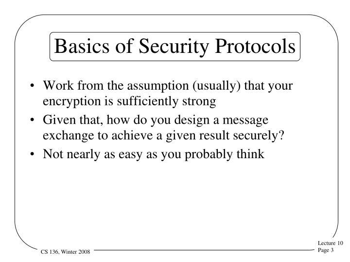 Basics of security protocols