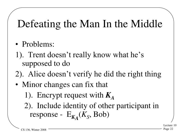 Defeating the Man In the Middle