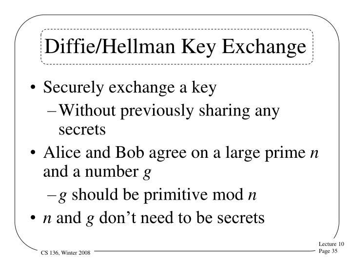 Diffie/Hellman Key Exchange