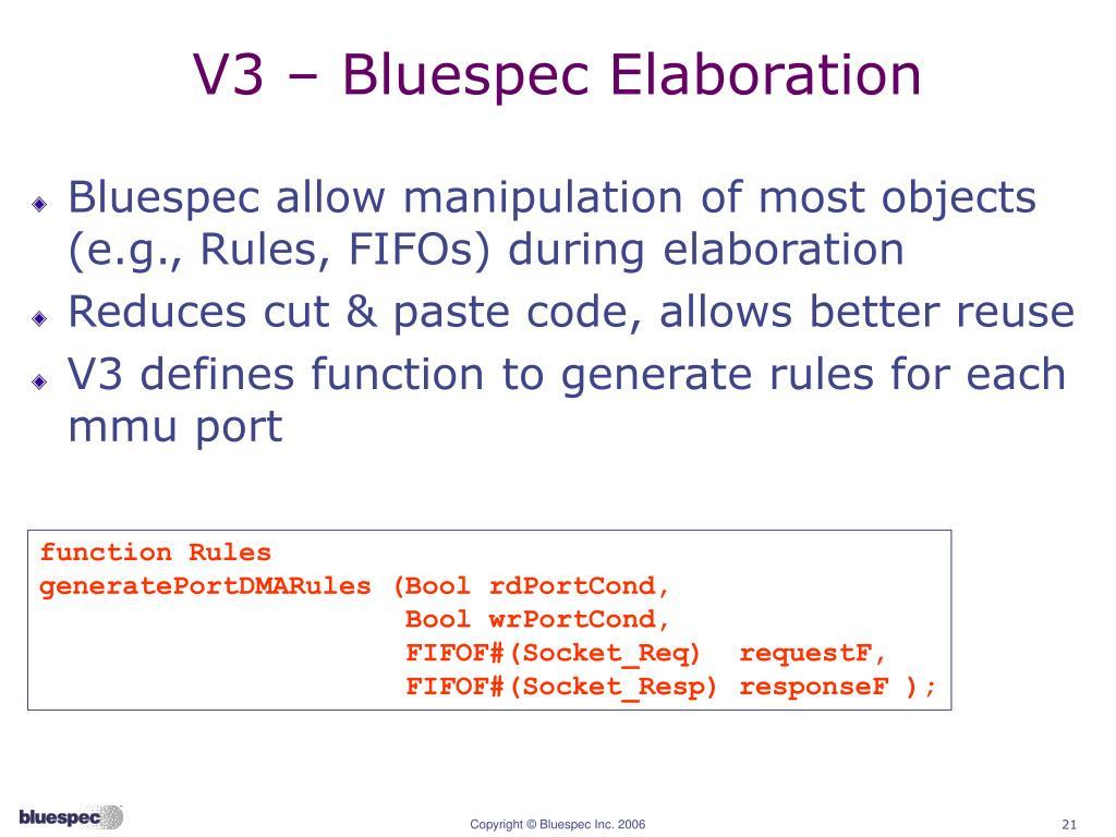 Bluespec system verilog examples