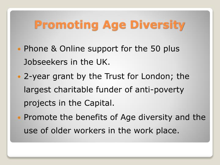 Phone & Online support for the 50 plus Jobseekers in the UK.
