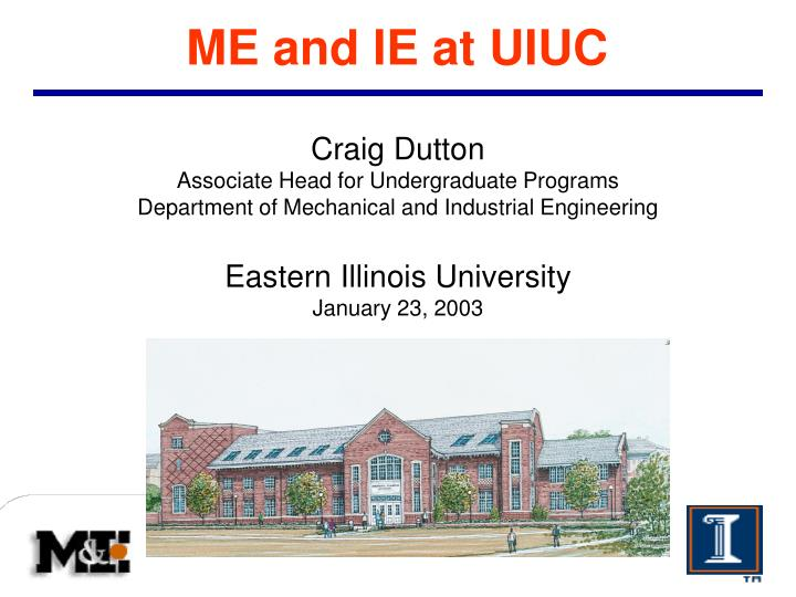 me and ie at uiuc n.