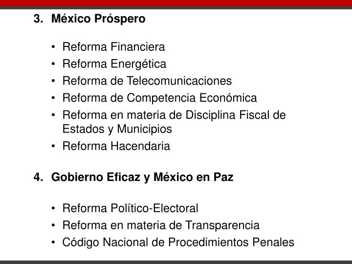 3.México Próspero