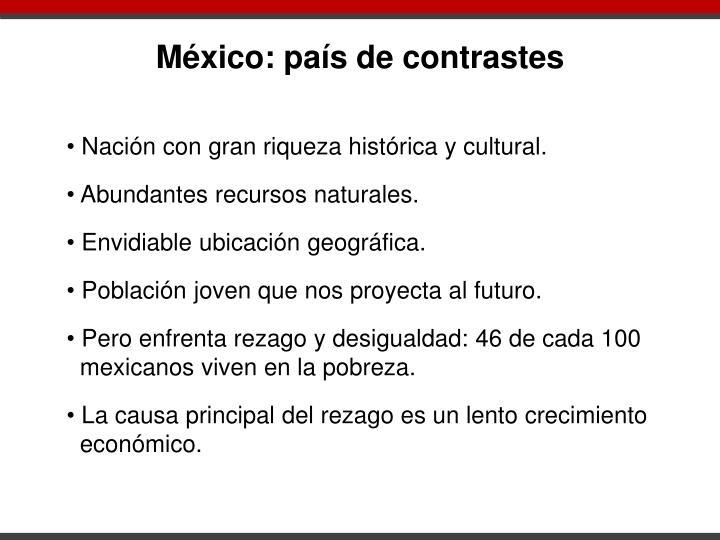México: país de contrastes