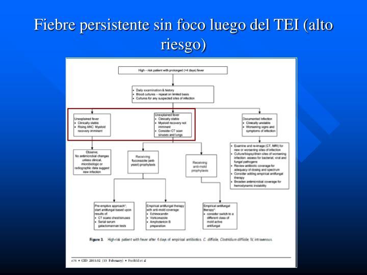 Fiebre persistente sin foco luego del TEI (alto riesgo)