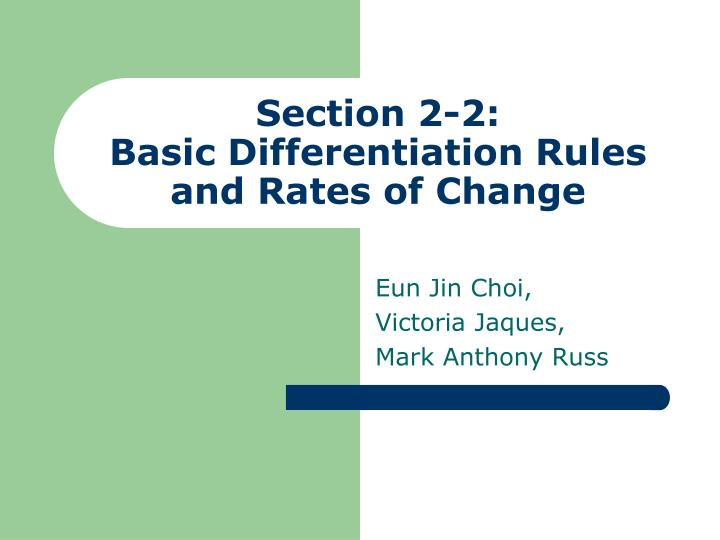 section 2 2 basic differentiation rules and rates of change n.