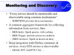 monitoring and discovery