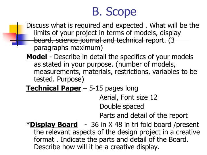B. Scope