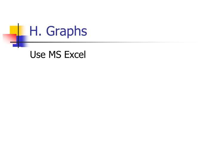 H. Graphs